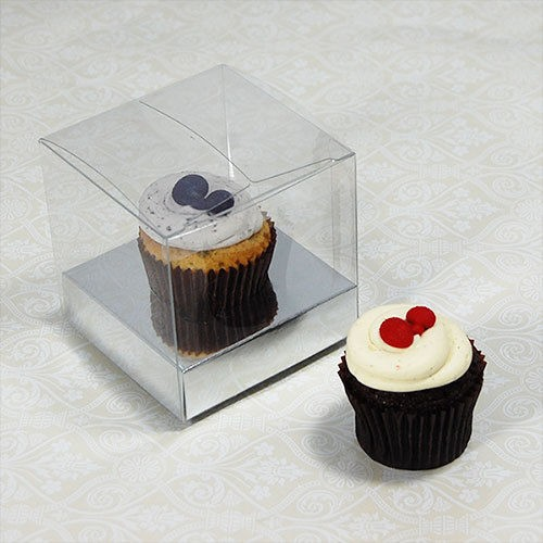 Clear Cupcake Boxes for 1 single cupcake