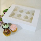 25 sets of Window Cupcake Box with and 12 Cupcake Holder($2.28 each set)