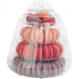 4 Tier Display Macaron Stand with Takeaway Case