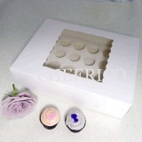 25 sets of Window Cupcake Box with 24 Mini Cupcake Holder($2.15 each set)
