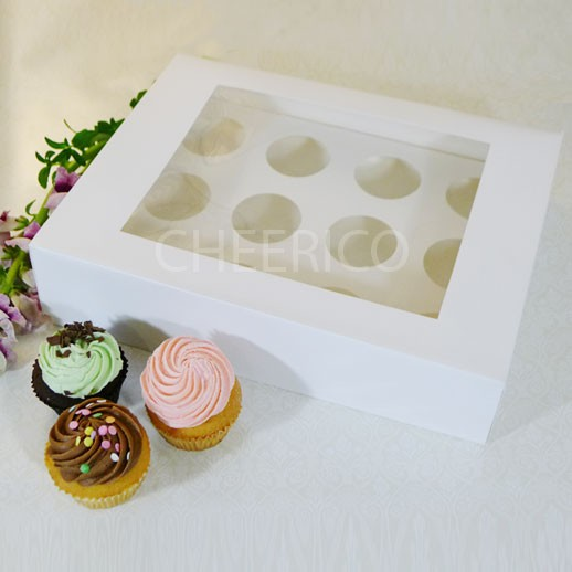 25 sets of Window Cupcake Box with and 12 Cupcake Holder($2.30 each set)