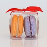 2 Clear Macaron Boxes($1.00/pc x 25 units)