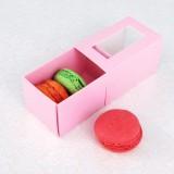 3 Pink Window Macaron Boxes($1.00/pc x 25 units)