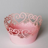 Pink Heart Cupcake Wrappers - 12units/pack